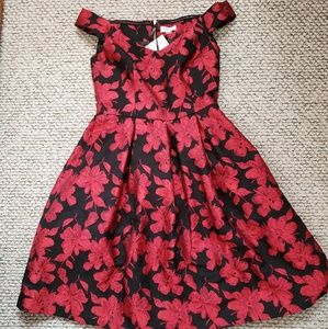 NWT Calvin Klein Red & Black Dress